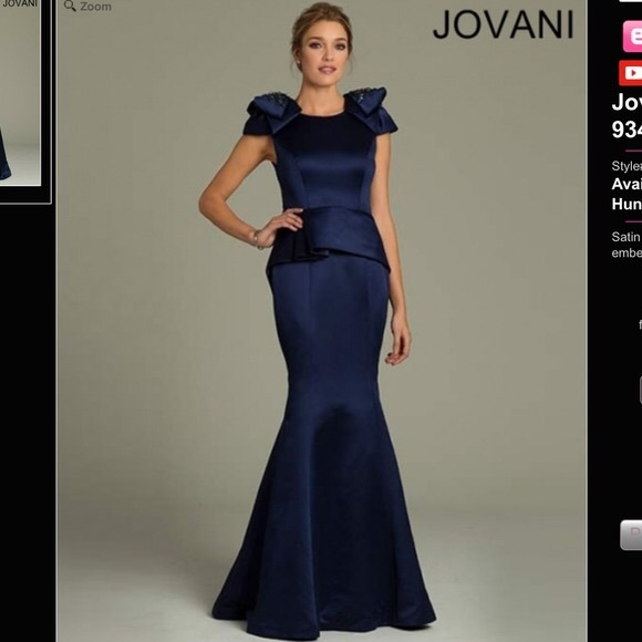 Jovani Dresses & Skirts - Jovani Embellished Bows Size 6
